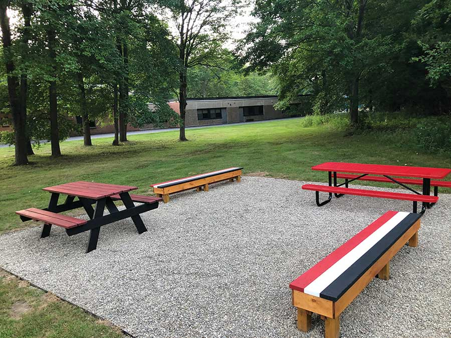Newly updated outdoor classroom at RBS