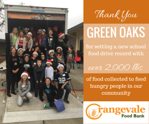 Green Oaks Food Drive Record Graphic