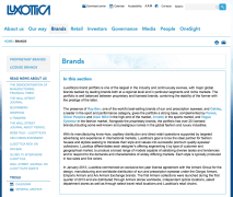 Luxottica's Old Brand Page