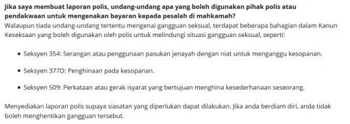 Laporan Polis di bawah Kanun Keseksaan