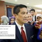 Azmin Ali nak disaman sebab tak bayar bil pelancongan lebih RM300K