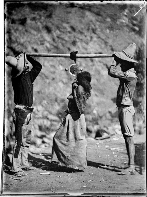 Carl Lumholtz: <i>tarahumara Woman Being Weighed</i>, Barranca De San Carlos (sinforosa), Chihuahua, 1892; From <i>among Unknown Tribes: Rediscovering The Photographs Of Explorer Carl Lumholtz</i>. The Book Includes Essays By Bill Broyles, Ann Christine E