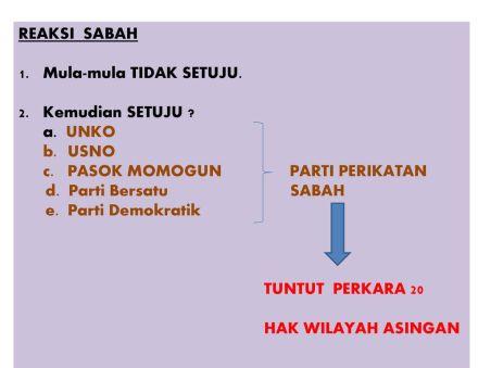 Reaksi Sabah Unko Usno
