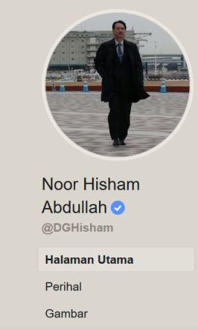 Hisham Abdullah Bluetick Facebook Sah Rasmi Covid
