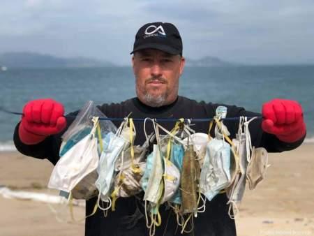 Pelitup Muka Pencemaran Jumpa Laut