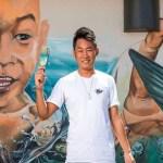 Leonard Siaw pelukis mural berbakat besar dari Sarawak, ikuti ceritanya