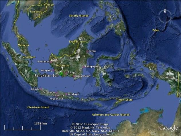 Pangkalan Bun and several cities that have direct flight to Pangkalan Bun