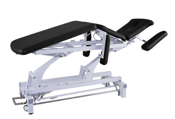 3 Sections Electric Treatment Table with Headrest & Folding Armrests 1