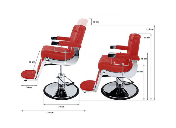 Tennessee Deep-Red Barber Chair 2