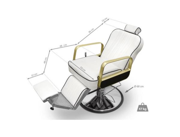 Tucson Barber Chair White 2