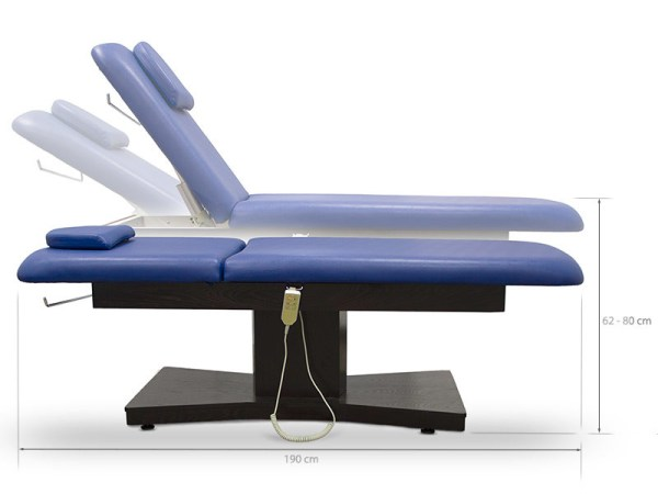 Electric Treatment Table with 2 Motors Headrest and Face Hole 3