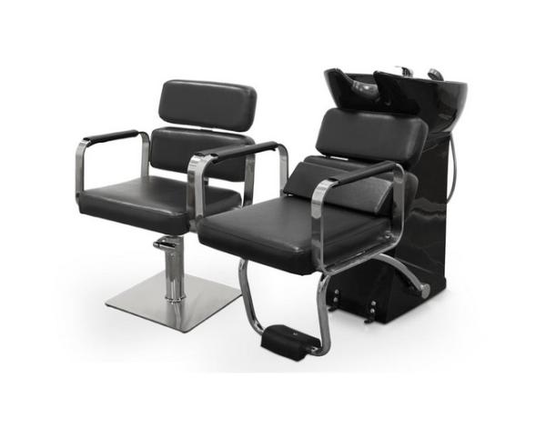 Black Ferrara Hairdresser Chair 4