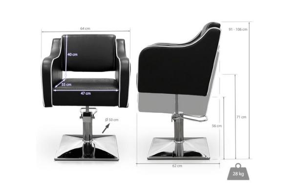 Black Pompeya Hairdresser Chair 2