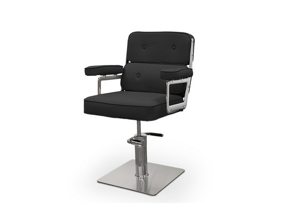 Black Catania Hairdressers Chair 1