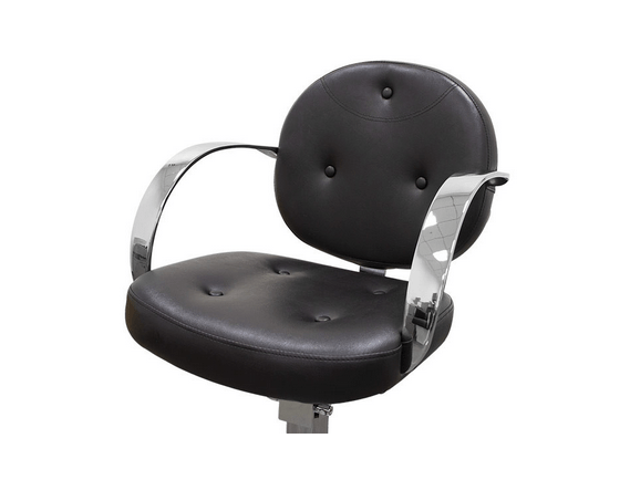 Black Roma Hairdressers Chair 4