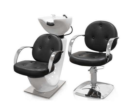 Black Roma Hairdressers Chair 5