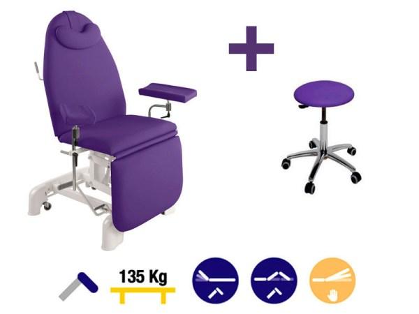 Hydraulic Blood Sampling Chair 182 x 62 cm 2