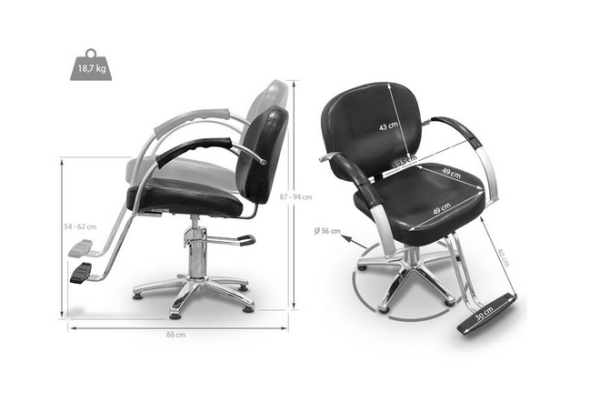 Black Sicilia Styling Chair 2