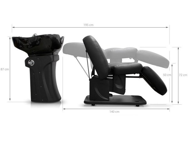 Backwash Unit for Hair Salon with Electric Chair 3