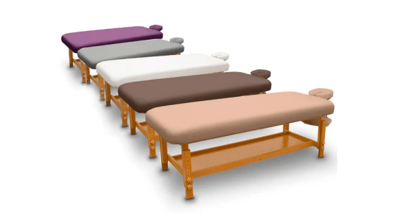 Fixed Wooden Massage Table for SPA 5