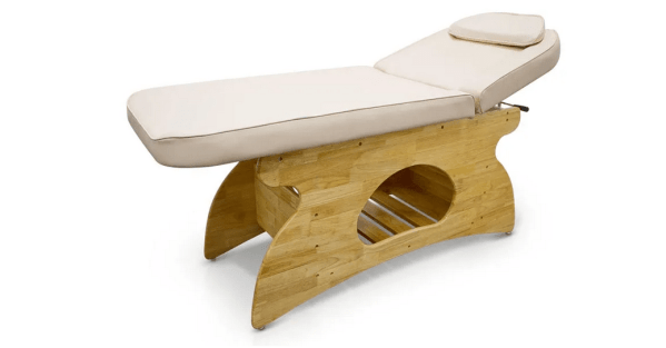 Wooden SPA Massage Table Fixed With Shelf 8