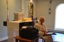 Fr Robinson gives an address