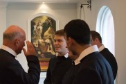 The new novices greet the community