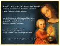 Musical Oratory of the Blessed Virgin Mary Poster