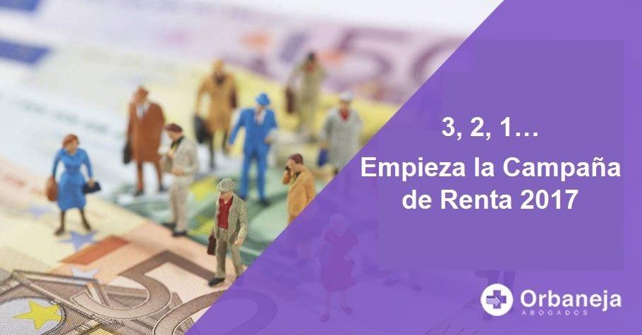 3, 2, 1... Empieza la Campaña de Renta 2017