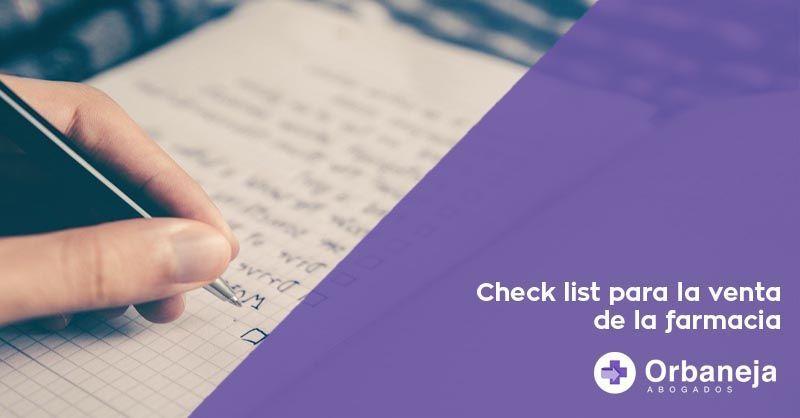 El check lista para la venta de la farmacia