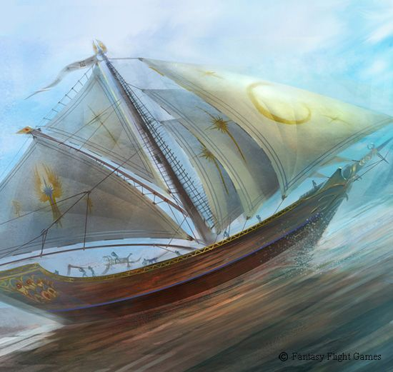 crivon-barco-elfico Heróis de Crivon Toran: Glorin