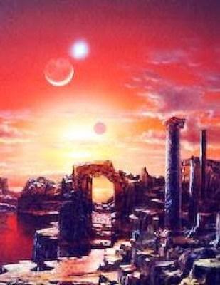 Arzien_Ruinas_de_Kelantida O Fim da Terceira Era: O Período Nebuloso
