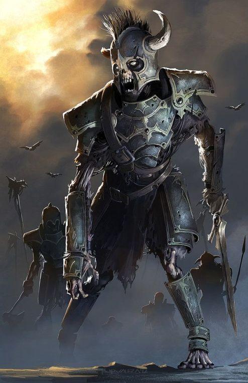 Arzien_Esqueletos-guerreiros A Coroa da Ruína, 3ª Parte: As Filactérias de Arantos, sessão VI