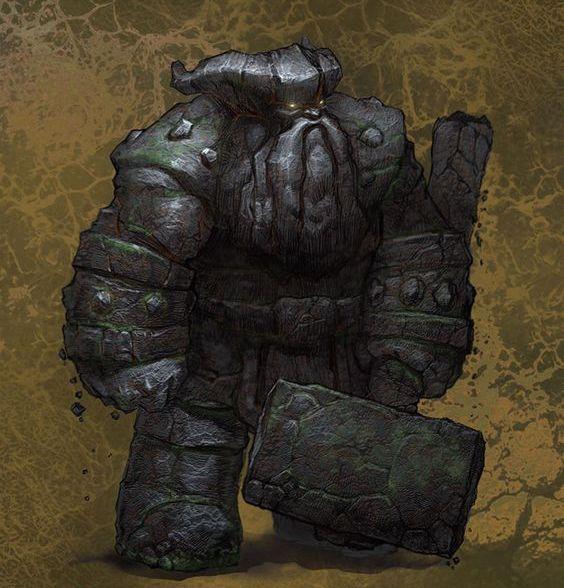 Greyhawk_Golem-de-Pedra O Guardião - O Caminho dos Heróis Parte V