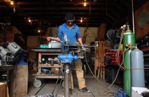 The artisan at work.