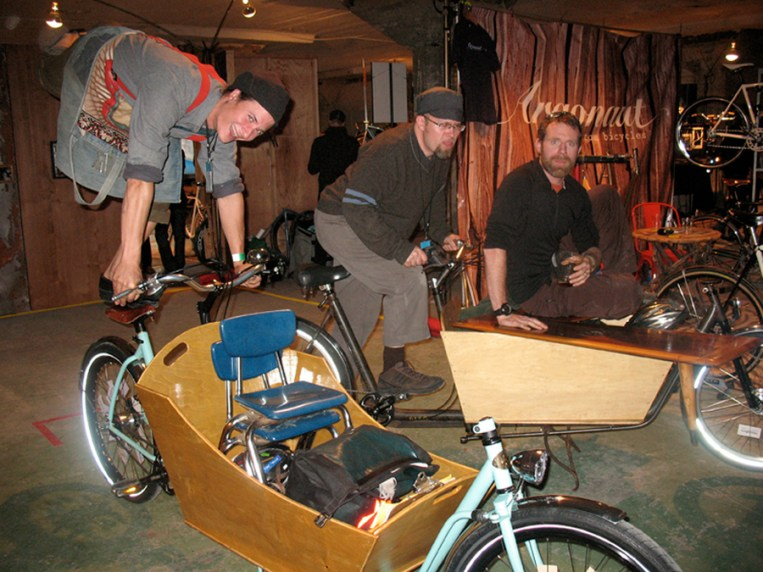 Our first bike expo, where we took time to entertain everyone around us.
