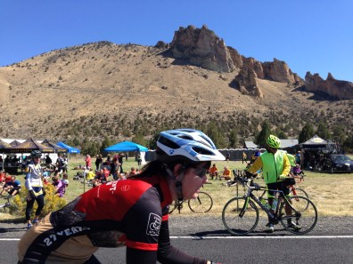 Riders streamed in and out of this gorgeous lunch stop.