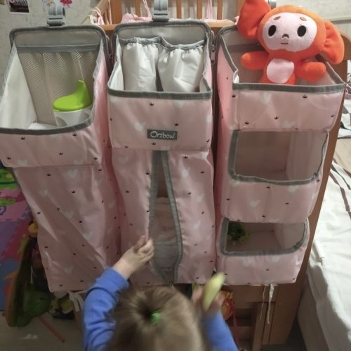 Baby Bed Hanging Storage Organizer photo review