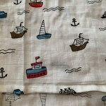 Baby Swaddle Blanket Soft Muslin Cotton Wrap - Boats photo review
