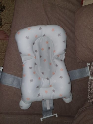 Baby Bathtub Seat Support Mat Foldable Pillow Anti-Slip photo review