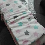 Baby Safe Crib Bumpers Pink Stars photo review