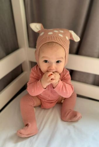 Baby Knitted Winter Hat Cute Deer Ears Design photo review