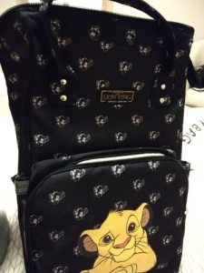 The Lion King Simba Diaper Bag Backpack Disney Baby Bag photo review