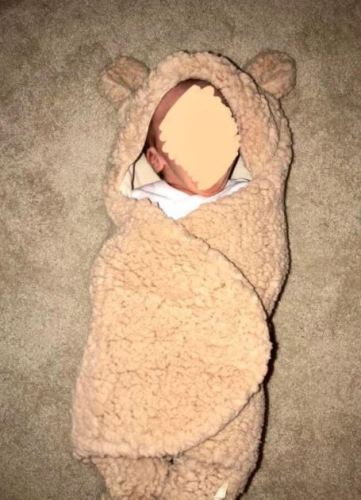 Baby Hooded Plush Swaddle Blankets photo review