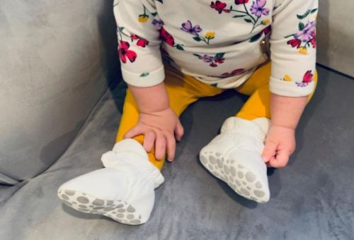 Baby Cotton Booties Anti-Slip Warm Fleece Shoes photo review