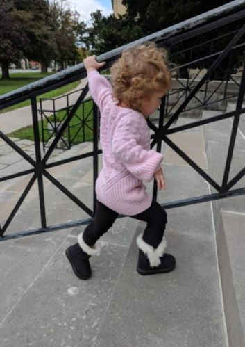 Baby Snow Boots Winter Warm Booties with Rubber Sole photo review
