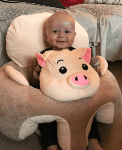 Baby Support Seat Sofa Cute Stuffed Plush Chair Comfortable Sitting Seat photo review