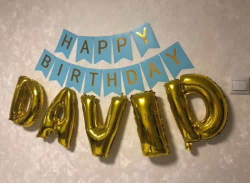 Baby Shower Happy Birthday Party Ballons Alphabet Letter photo review