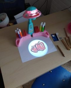 Kids Draw Projector Learning Painting Educational Learning Toys photo review