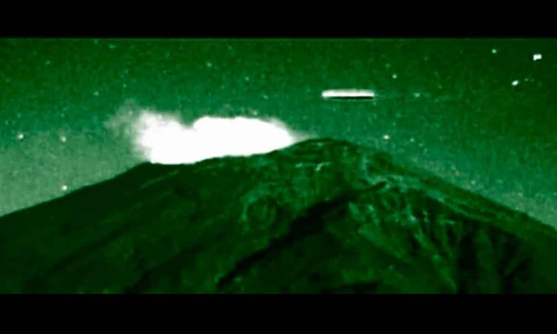 Ovnis en el Popocatépetl